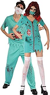 ae13df77a3b42 Couples Mens AND Ladies Zombie Surgeons Halloween Horror Scary Gore Fancy  Dress Costumes Outfit