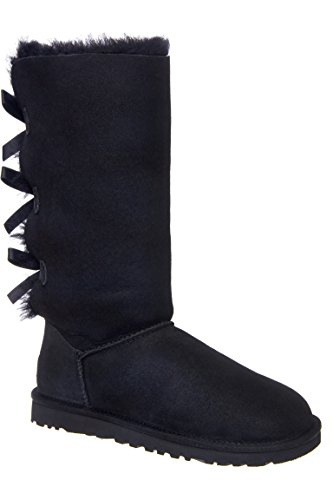 Ugg Australia Womens Bailey Bow Tall Boot Black Size 5