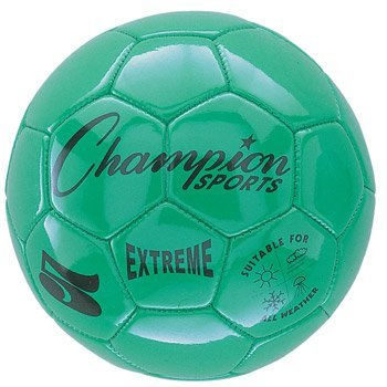 Champion Sports Extreme Series Composite Soccer Ball, Green, Size 4