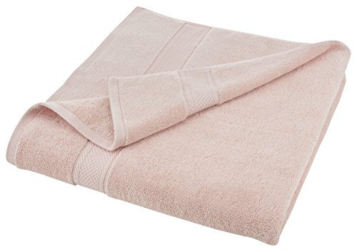 Grand Patrician SUITES BODY SHEET - Densely Woven 3 ply Loop Yarn, 100% Cotton, Thick, Plush, Ultra Absorbent - Luxury, Hotel, Bathroom - Machine Washable - Pale Dogwood Pink