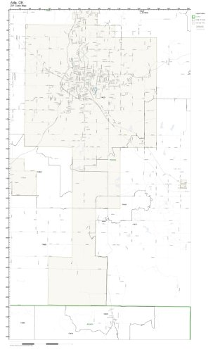 Ada Ok Zip Code Map.Amazon Com Zip Code Wall Map Of Ada Ok Zip Code Map Not Laminated