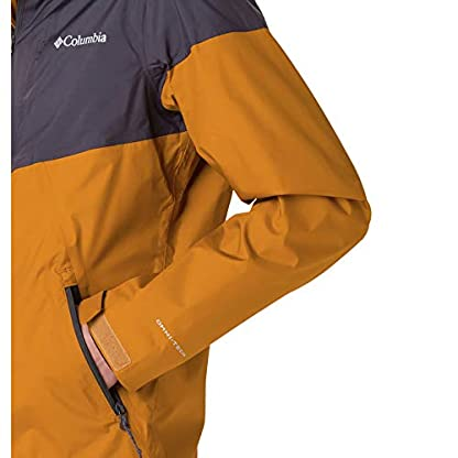 Columbia Herren Inner Limits Regenjacke, Gelb/Grau (Burnished Amber, Shark), L 4