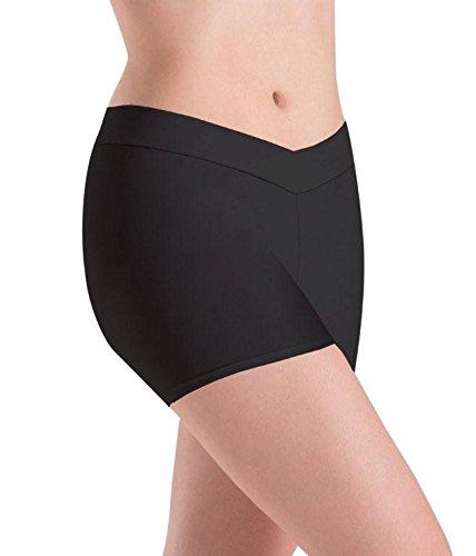 Motionwear V Waist Shorts, Black, Medium - Motionwear Shorts