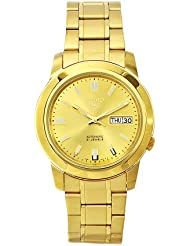Seiko Mens SNKK20K1S Stainless-Steel Analog with Gold Dial Watch
