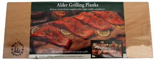 Nature's Cuisine NC005-4 14 by 5-1/2-Inch Alder Outdoor Grilling Plank, 4-Pack by Nature's Cuisine