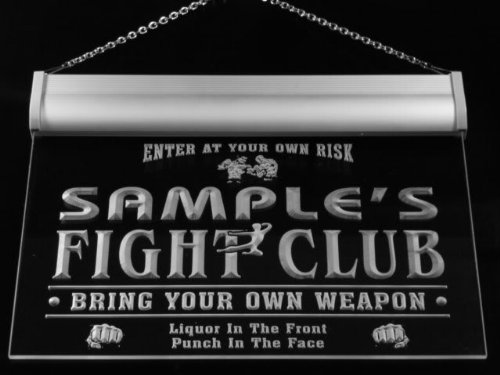 qj1141-b Reyes Fight Club Kung Fu Boxing Fitness Room Neon Bar Sign