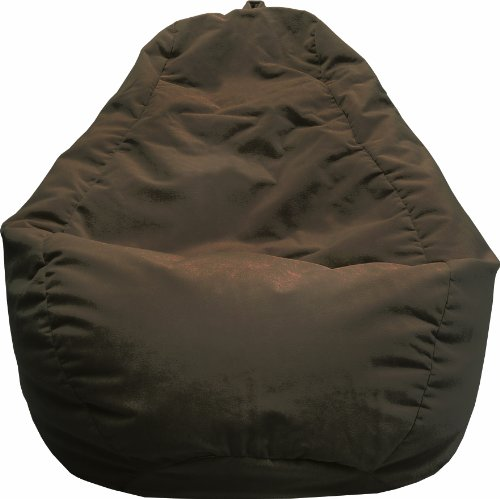 Green Vinyl Bean Bag (Gold Medal Bean Bags 30011246821TD Large Leather Look Tear Drop Bean Bag, Walnut)