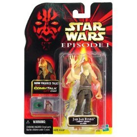 STAR WARS E1 JAR JAR BINKS NABOO SWAMP with FISH with COMMTECH CHIP ()