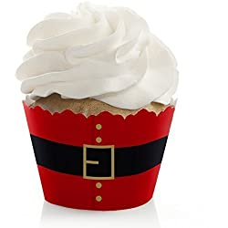Jolly Santa Claus - Christmas Party Decorations - Party Cupcake Wrappers - Set of 12