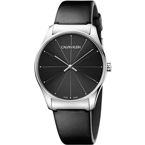 Calvin Klein watch CK Classic K4D211CY Black dial Leather strap
