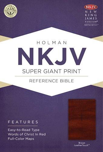 NKJV Super Giant Print Reference Bible, Brown ()
