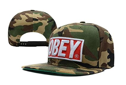 Amazon.com   NEW Obey Hat Adjustable Snapback Cap Camo   Sports Fan ... 43189a1cdceb