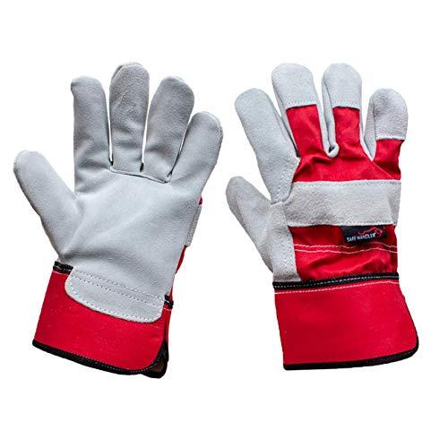 SAFE HANDLER Deluxe Work Gloves | Single Palm Split Leather, 3