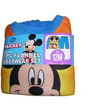 Disney Mickey Mouse Infant Toddler Boys Flannel Sleepwear Set