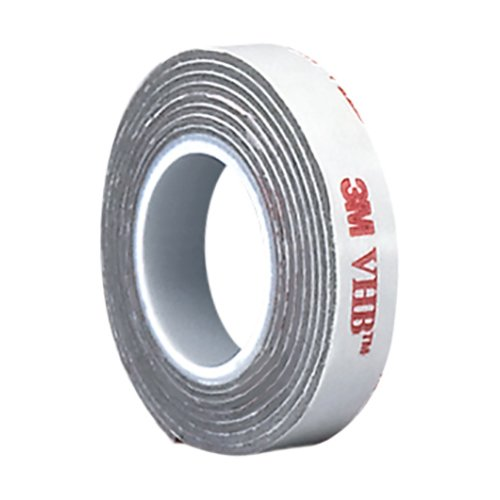 3M VHB RP16 Double Sided Tape Roll - 0.25 in. x 15 ft. Conformable Foam Tape with Permanent Bonding Acrylic Adhesive. Tapes and Sealants
