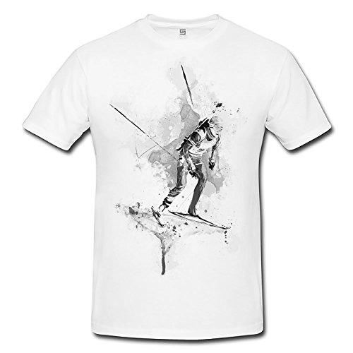 Biathlon V T-Shirt Frauen, Mädchen mit stylischen Motiv von Paul Sinus