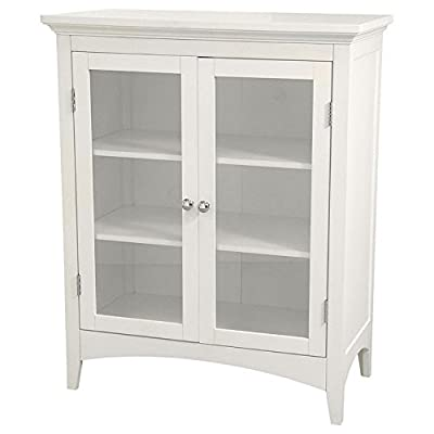Elegant Home Fashions Madison Avenue Two-Door Floor Cabinet - White