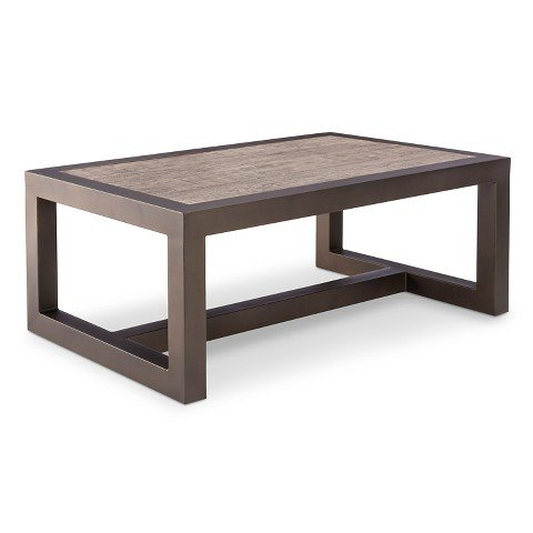Smith & Hawken™ Premium Edgewood Metal Patio Coffee Table