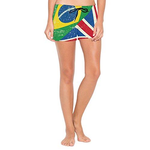 COOSUN Damen Badeshort Mehrfarbig mehrfarbig S yckp5J2Mb