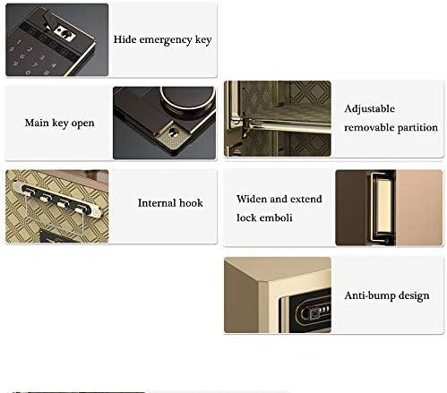 家庭用の安全で小さな目に見えない45cmのオフィス指紋パスワードボックス、スチール製盗難防止壁掛けキャビネット