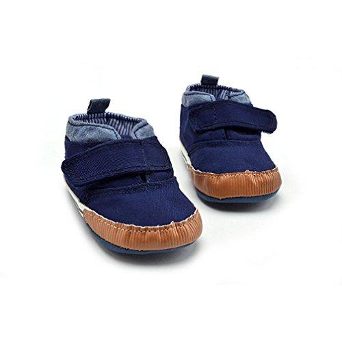 Jamicy® Baby-Segeltuch-Schuh-Weinlese-Anti-Rutsch weiches Sole-Kleinkind-Turnschuh Marine