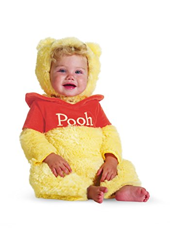 Pooh Bear Woman Costume (Disguise Baby's Disney Winnie The Pooh Prestige Costume, Yellow/Red, 12-18 Months)