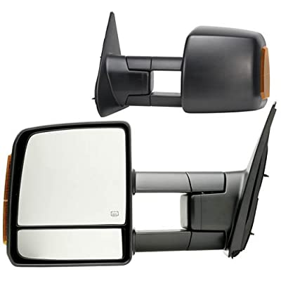 Fit System 70103-04T Toyota Tundra Driver/Passenger Side Replacement Mirror Set with Turn Signal and Dual Glass: Automotive