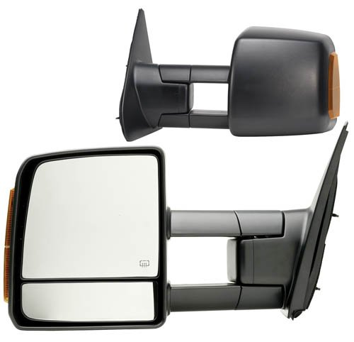(Fit System 70103-04T Toyota Tundra Driver/Passenger Side Replacement Mirror Set with Turn Signal and Dual)
