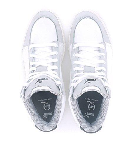 Quarry white Mid White Sneakers MCQ Serve Alexander Puma McQueen Homme whisper Baskets Hn6qxOS8