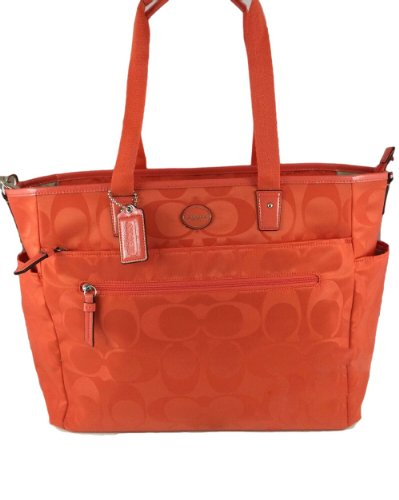coah outlet cglc  orange coach diaper bag orange coach diaper bag