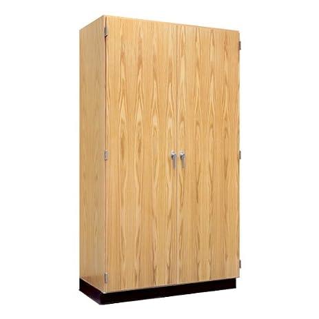 Amazon Tall Wood Storage Cabinet W Oak Doors 48 W Office
