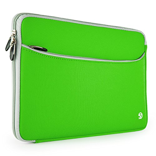 Rg6 Gray Box - Green & Gray Trim VanGoddy Neoprene Sleeve for HP 13.3 inch Laptops & Ultrabooks