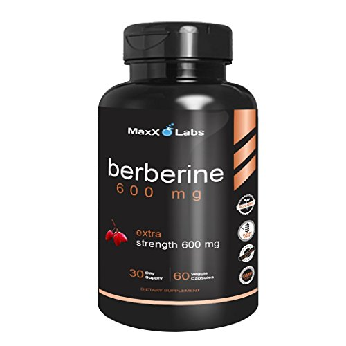Berberine Supplements 600mg x2605; New x2605; Natural Formula Supports Glucose Metabolism, Cardiovascular & Gastrointestinal Health. Best Vegetarian Non-GMO Gluten Free 30 Days: 60 Capsules Review