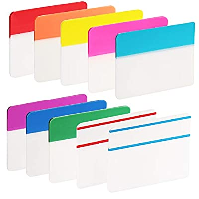 ExcelFu 400 Pieces 2 inch Index Tabs Flag Dispensers Sticky Page Markers Colored Tape for Binders, Books, Notebooks and File Folders