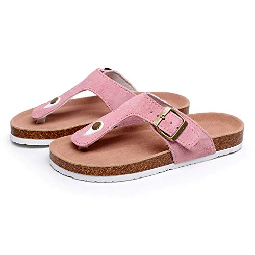 Home Girl dimensioni Huyp Pantofole Ladies Antiscivolo Flip 36 Fashion Spiaggia Summer Pink Sughero In flops O8wwERq