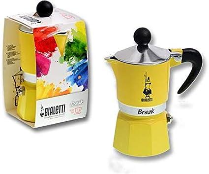 Bialetti Cafetera Break amarilla 1 taza: Amazon.es: Hogar