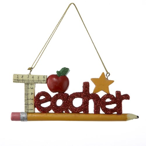 Kurt Adler Teacher Christmas Ornament by Kurt Adler