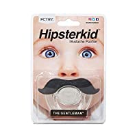 Hipsterkid BPA Free Mustachifier for Kids 0-48 Months in Gentlemen Black