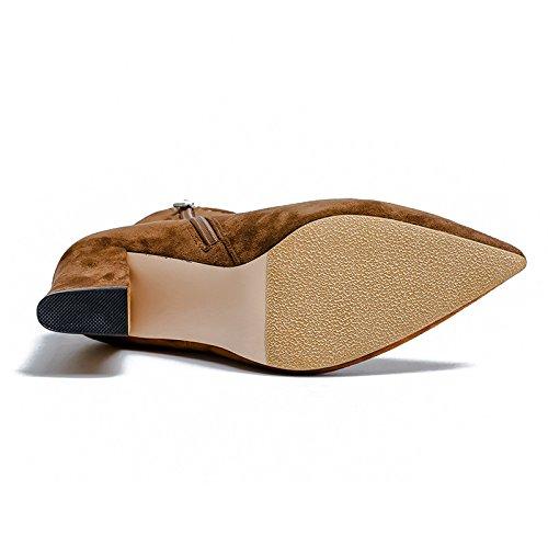 KHSKX-Koreanische Schuhe Mit Hohen Absätzen Und Wildleder - Schuhe Thirty-nine