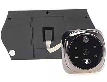 BW de 4.3 pulgadas LCD Peephole Digital Cámara de visión del monitor inteligente con el movimiento de detección de puerta Video Intercomunidad visión ...