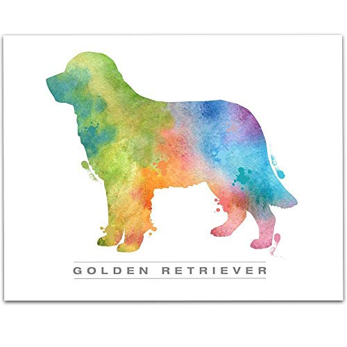 (Watercolor Golden Retriever - 11x14 Unframed Art Print - Great Gift for Dog Lovers, Also Makes a Great Gift Under $15)