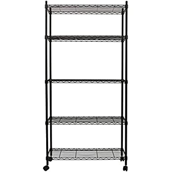 Amazon.com: Finnhomy 5 Tier Wire Shelving Unit 5 Shelves Storage ...