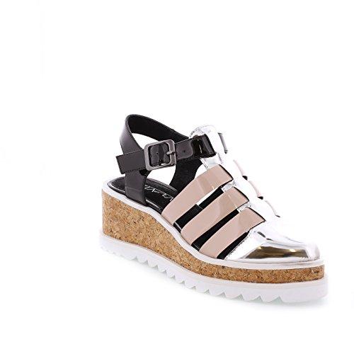 Sixtyseven 77923 - Zapatos de vestir para mujer Sintec plata/Maquillaje/Plata/Blanco