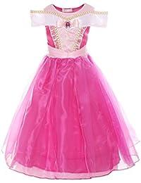 Girls Drop Shoulder Princess Aurora Costume Dress up