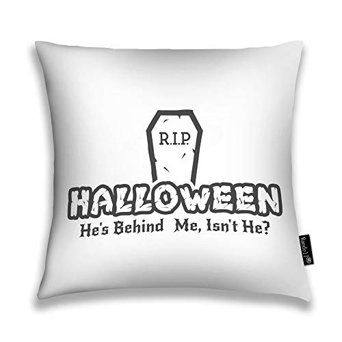 Randell Throw Pillow Covers Halloween Rip Label Tombstone Elements Retro Grunge Home Decorative Throw Pillowcases Couch Cases 18