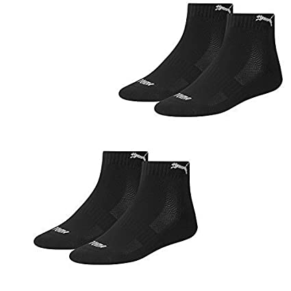 PUMA Unisex Match Quarters Socken Sportsocken MIT FROTTEESOHLE 4er Pack