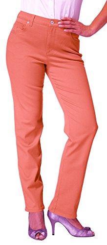 Gloria Vanderbilt Amanda Classic Fit Tapered Leg Womens Jeans (Color: Coral Nectar) (16 (Average Denim)