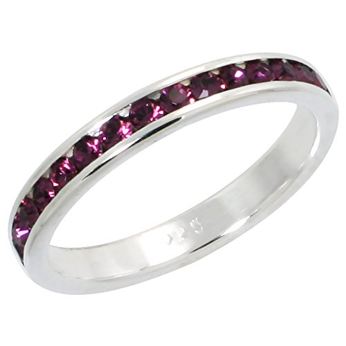Stackable Birthstone Eternity Band - 9