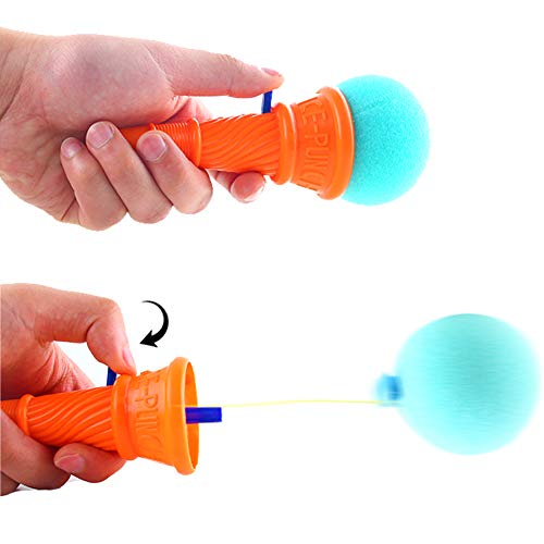 LovesTown 14pcs Ice Cream Shooters Toy,7 inches Ice Cream Poppers Icecream Cone Foam Ball Launcher for Ice Cream Party Favors Carnival Prize