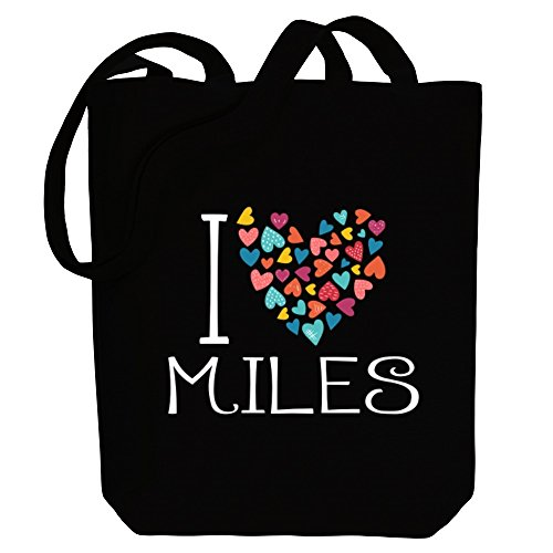 colorful I Male Tote hearts Idakoos Bag Names Miles love Canvas 4tpcq1